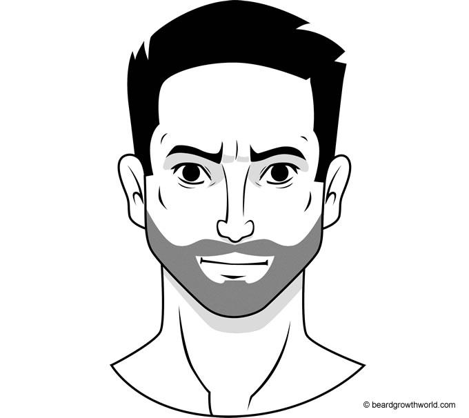 Stubble beard style